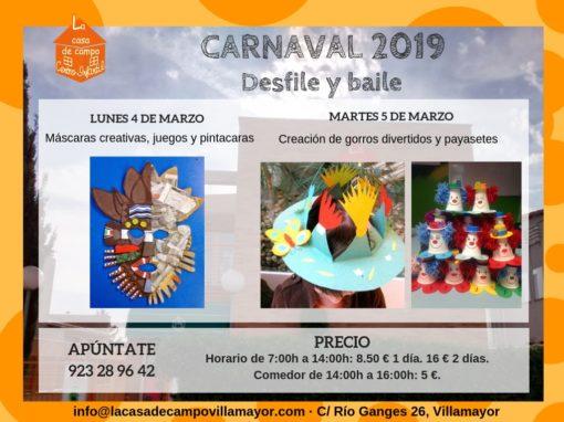 Días sin cole en Carnavales 2019